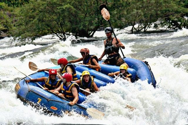 Rafting in Uganda on the Nile.