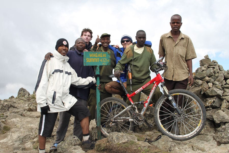 Mountain biking Mt Elgon National Park.
