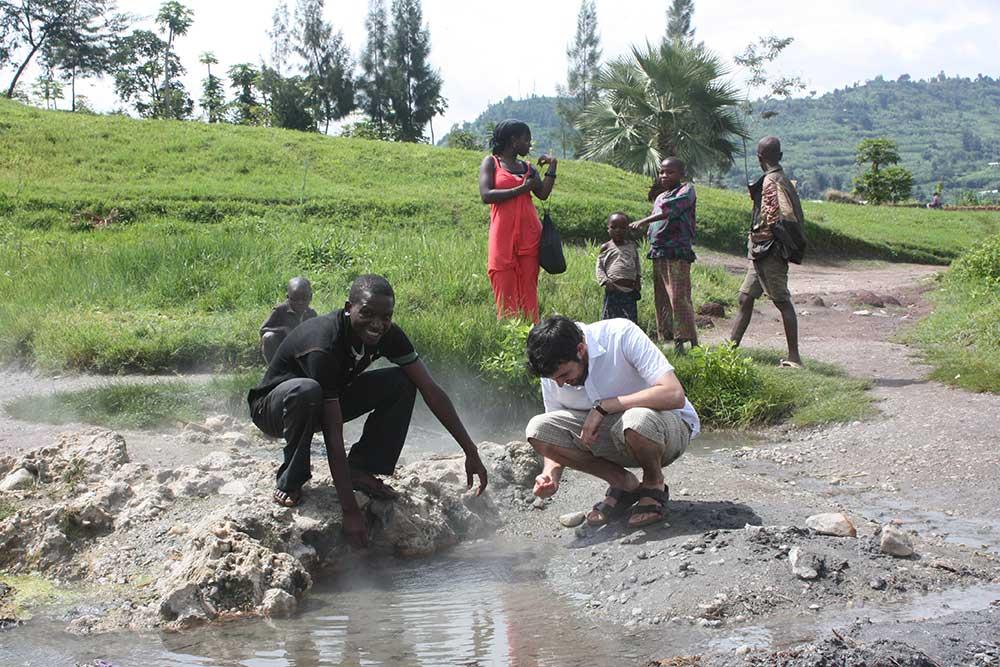 Gisenyi Rubavu Hot water springs. - Lake Kivu