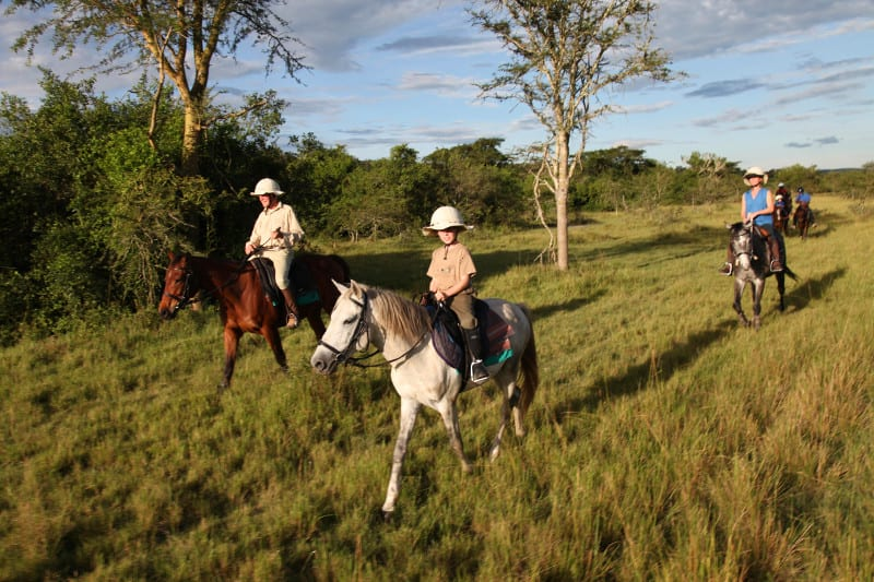 Horse ride safaris in Uganda.