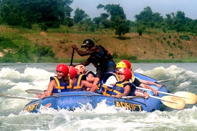 Rafting on the River Nile.